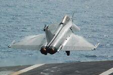 Dassault Rafale Französischer Kämpfer Flugzeug Start 12x18 Silber Halogen
