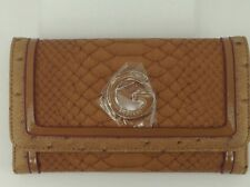 Women's GUESS Brand Large Brown Tan Trifold Wallet - $50 MSRP - 10% off