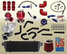 JEEP Universal 6-20Psi Upgrade T3/T4 Turbo Turbocharger T04E Kit Red 450Hp