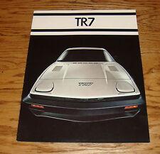 Original 1977 Triumph TR7 Sales Brochure 77