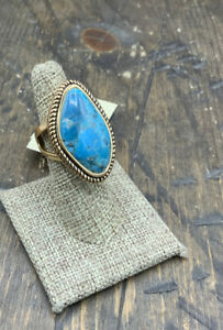 Barse Boulder Turquoise Ring- Bronze-6-NWT