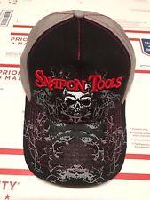 NEW Snap On Tools Black/Grey/Red SKULL baseball cap Hat FREE Shipping to USA