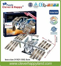 Clever&Happy 3D Puzzle Model International Space Station  Educational Toys Paper