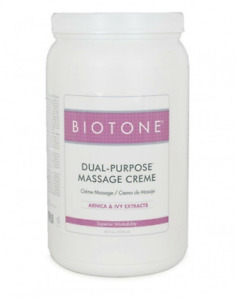 Biotone Dual Purpose Massage Cream 68 oz. Arnica & Ivy Extracts