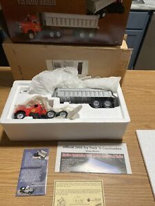 MANITOU 1960 B-MODEL MACK TRACTOR WITH DUMP TRAILER  1:34 SCALE**