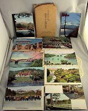 Vintage 10 Japanese Post Cards Mt Fuji Nikko Kanaya Hotel Tosyogu Shrine