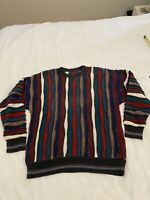 Coogi Style Multi Color Sweater Vintage Cosby Size Xl 51