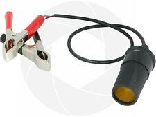Battery Alligator Clamps 12V to 24V Auto Power Cigarette Lighter Socket Adapter