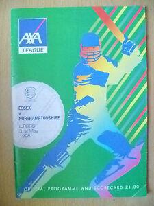 1998 AXA League- ESSEX v NORTHAMPTONSHIRE, 31 May Cricket Programme