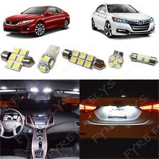 14 White LED interior lights package kit 2013-2017 2018 Honda Accord + Tool HA2W