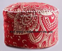 Pouf Ottoman Mandala Indian Poof Pouffe Foot Stool Floor Pillow Ethnic Decor 24""