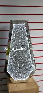 LED Crushed Diamond Crystal Bling Sparkly Mirrored Floor Vase 70CM Tall