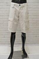 Bermuda YELL Uomo Taglia Size 34 Pantaloncino Shorts Pantalone Pants Man Bianco