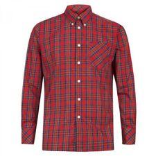Camicie casual e maglie da uomo rossi marca Merc cotone