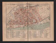 Landkarte city map 1888: Stadtplan: MAINZ. am Rhein
