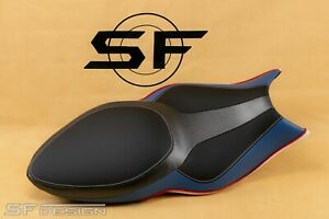 SF-Design BMW K1200S K1300S 2003-2015 exclusive seat cover Carbon Black Blue