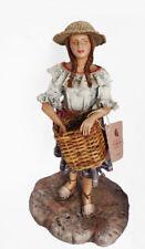 Achalay Creaciones  Colombian Figurine Woman Picking Coffee Beans / Chapolera