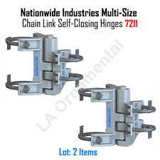 Nationwide Industries Multi-Size Chain Link Self-Closing Hinges 7211 (One Pair)