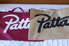 PATTA Script Tote Bags Bundle Burgundy and Brown 2x Shoulder Summer