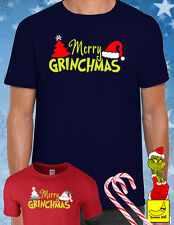 Christmas Grinch T-shirt Xmas Party Present Gift Humbug Films Santa Stocking Tee