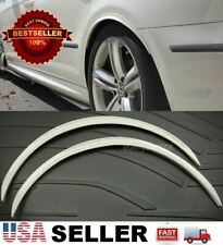 "2 x 29"" Long Arch Wide Fender Flare Extension White Protector Guard For    BMW"