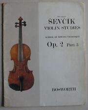 Sevcik opus 2 part 5, méthode de violon