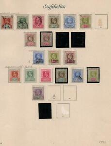 SEYCHELLES: Edward VII Examples - Ex-Old Time Collection - Album Page (40865)