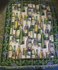 wine Grape Throw Blanket Tapestry Woven