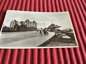 VINTAGE POST CARD 1947 WEST CLIFF PROMENADE,WHITBY.
