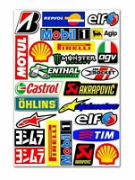 25 PVC Aufkleber Agip Shell Elf Satz Auto Moto GP Motorrad Vinyl Stickers Set