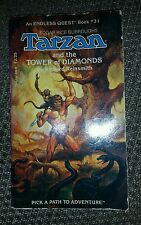 Rare Endless Quest #31: Tarzan and the Tower of Diamonds CYOA  D&D TSR Gamebook