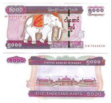 BURMA MYANMAR 5000 5.000 KYATS 2014 NEW SECURITY UNC P 83