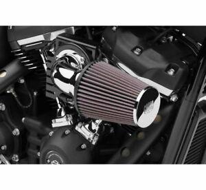 Cobra Chrome Cone Air Intake 90 Degree Elbow K&N Filter Harley Touring 2008-2016