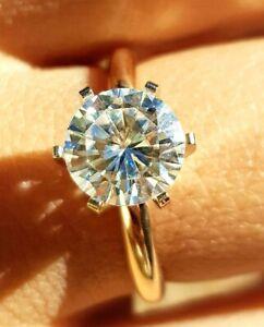 2ct VS Genuine Moissanite Solid 14K White Gold Engagement Ring Charles Colvard
