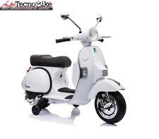 Moto elettrica per bambini PIAGGIO VESPA PX 150 con rotelle 12V luci led Bianco