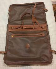 Trussardi Chocolate Leather Garment Bag Luggage Satchel - Rare & Excellent Shape