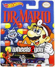 Damaged - 8 CRATE DELIVERY Dr Mario - Hot Wheels Pop Culture REAL RIDERS Super