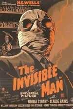 HG WELLS' THE INVISIBLE MAN vintage movie poster DRAMA MYSTERY cult 24X36