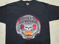 HARLEY DAVIDSON Willie G Skull Flames Mens LARGE Shirt Appleton WI Sprocket Rim