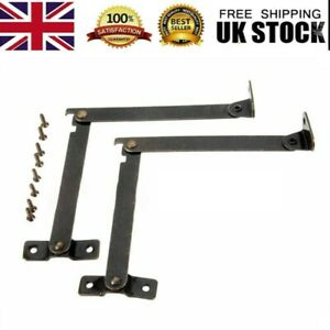 2xDoor Lift Up Strut Lid Flap Stay System Support Hinge Kitchen Cupboard Cabinet