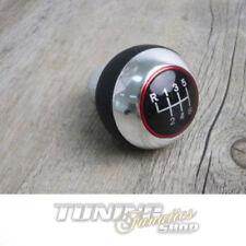 Premium Pomello Del Cambio Manopola Edizione pelle Cromo Alluminio Rosso 6-gang