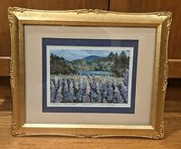 "Judith Rogers Signed Limited Ed. Framed Print ""A Field of Lupine"" Landscape"