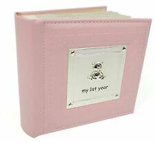 My First Year Baby Girl Pink Photo Album 1st Birthday Present Memories Gifts