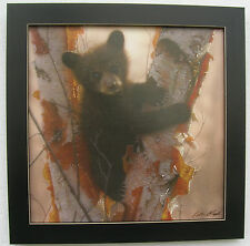 Black Bear Prints Cubs Framed Country Picture Print Interior Home Decor Art