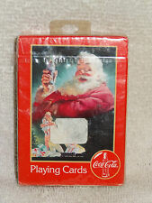 Coca-Cola Coke Christmas Santa & Kids Playing Cards- Unopened Pack- 1996- Red