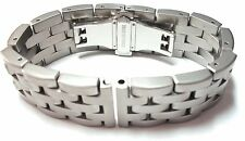 Heavy Soild Link Stainless Steel Watch Bracelet. Satin Finish. 20, 22 and 24mm