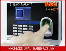 BIOMETRIC FINGERPRINT TIME CLOCK RECHARGEABLE BATTERY