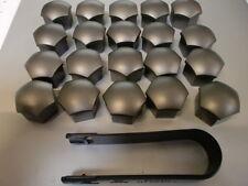 20 Stück Audi Original Radschraubenkappen grau inkl. Abziehaken 321601173a Z37