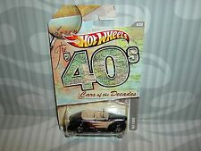 """2012 HOT WHEELS """"CARS OF THE DECADES'' = `40 FORD  = BLACK"""