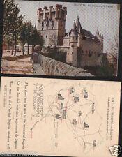 ANTIGUA POSTAL SEGOVIA EL ALCAZAR JUNTA TURISMO OLD POSTCARD POSTKARTE   CC00656
